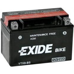 Batterie moto Exide YTX9-BS 12V 8AH