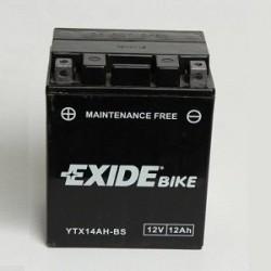 Batterie moto Exide YTX14AH-BS 12V 12AH