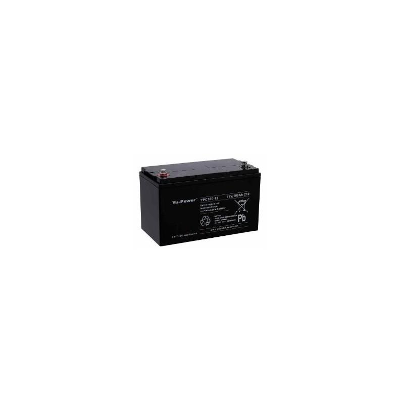 batterie decharge lente agm etanche yuasa ypc100 12 12 volts 100ah. Black Bedroom Furniture Sets. Home Design Ideas