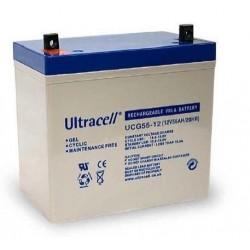 Batterie stationnaire GEL décharge lente 12V 55AH