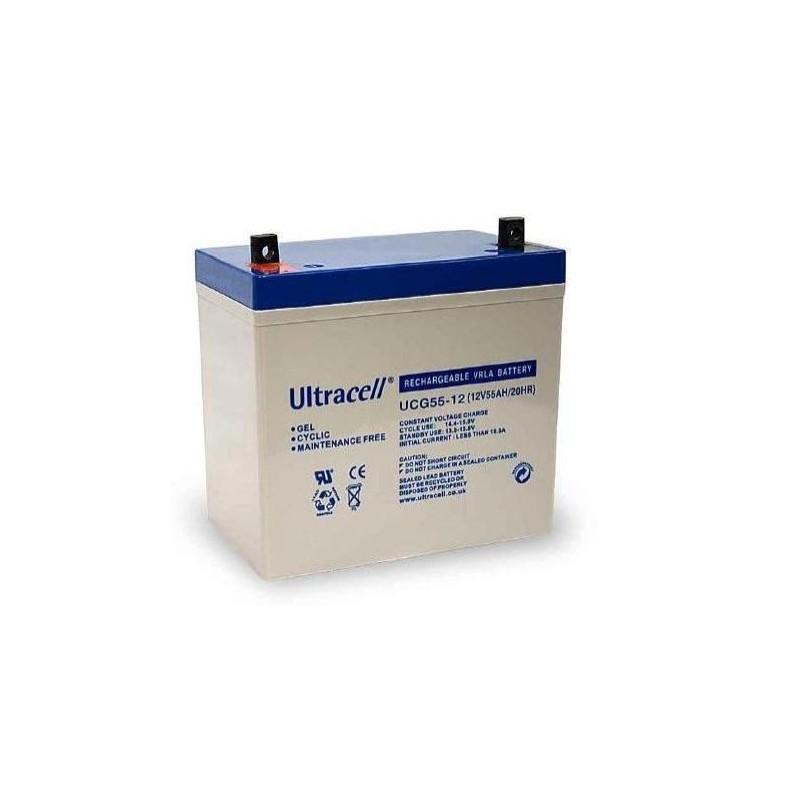 batterie gel ultracell ucg55 12 12v 55ah. Black Bedroom Furniture Sets. Home Design Ideas