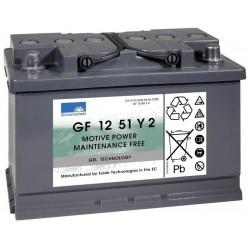 Batterie Sonnenschein Gel 12V 56Ah GF 12 51 Y2