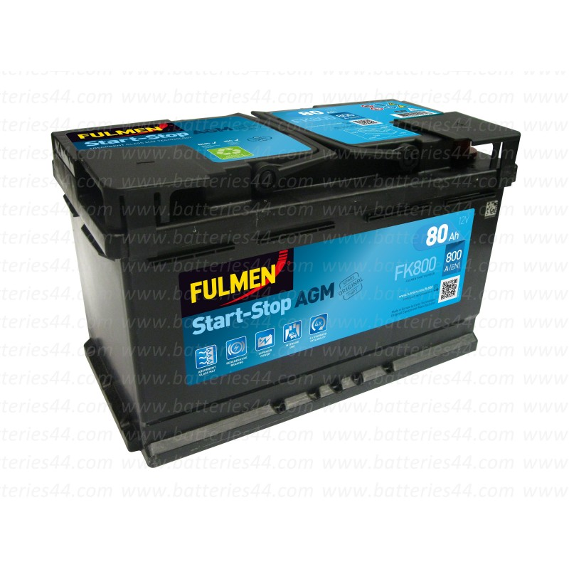 batterie fulmen fk800 agm start stop 12v 80ah 800a. Black Bedroom Furniture Sets. Home Design Ideas