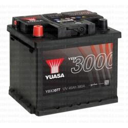 Batterie Yuasa YBX3077 12V 45AH 380A