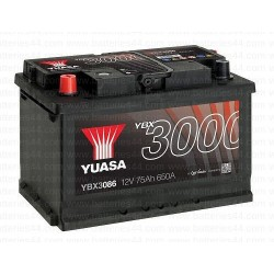 Batterie Yuasa YBX3086 12V 75AH 650A + Gauche