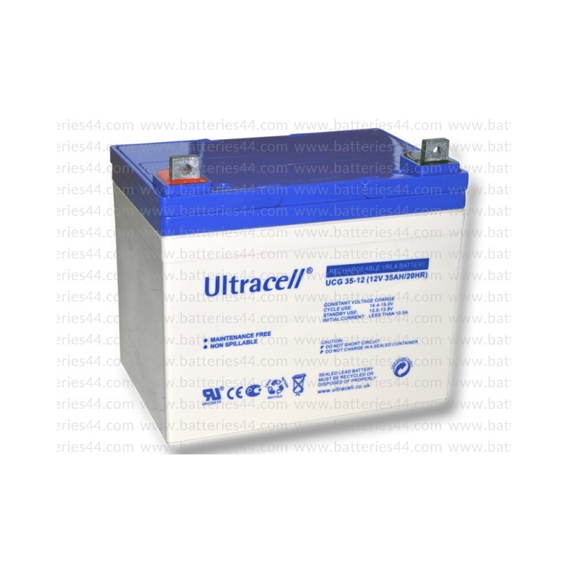 batterie plomb gel ultracell ucg35 12 12v 35ah. Black Bedroom Furniture Sets. Home Design Ideas