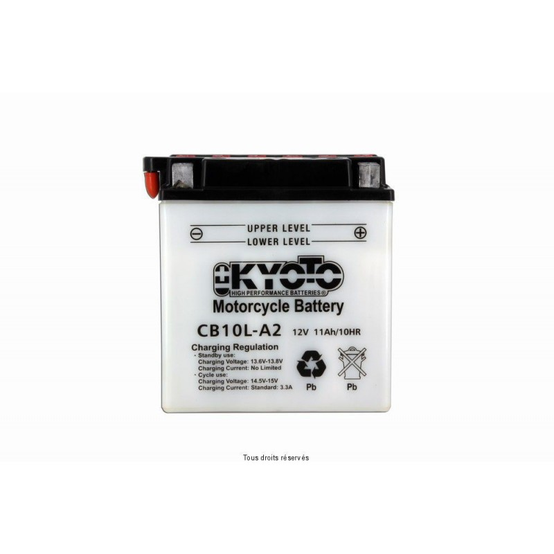 Batterie moto Kyoto YB10L-A2 12V 11AH