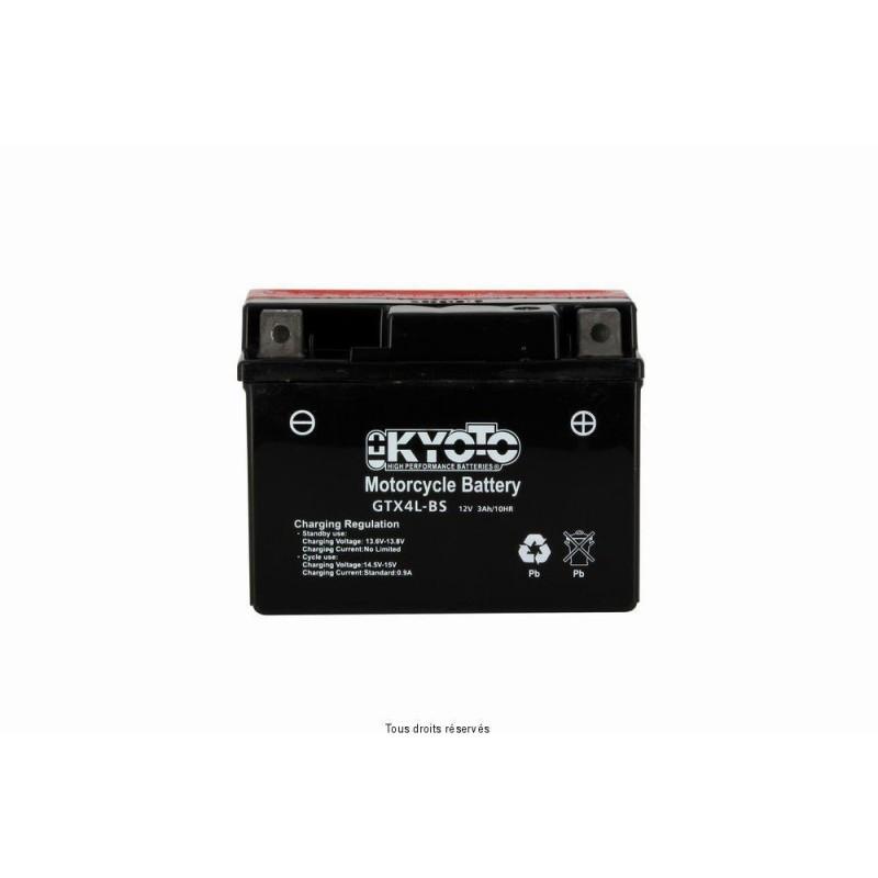 Batterie moto Kyoto YTX4L-BS 12V 3AH