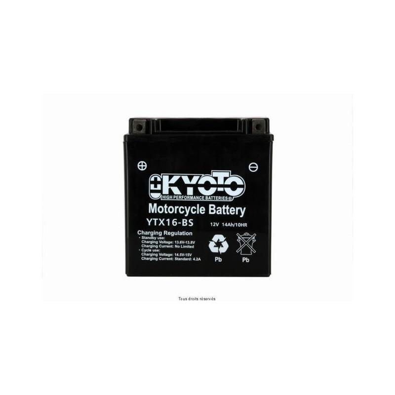 Batterie moto Kyoto YTX16-BS 12V 14AH