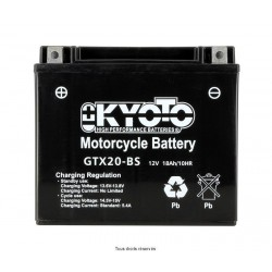 Batterie moto Kyoto YTX20-BS 12V 18AH