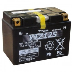 Batterie moto Yuasa YTZ12S GEL Haute Performance 12V 11AH