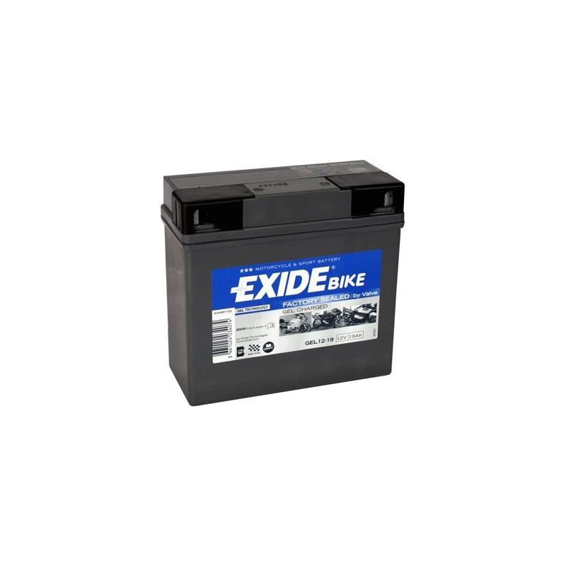 batterie moto exide gel12 19 bmw 12v 19ah. Black Bedroom Furniture Sets. Home Design Ideas