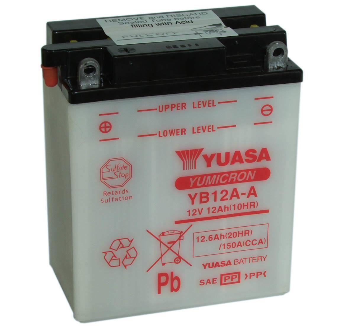 Batterie moto Yuasa YB12A-A...