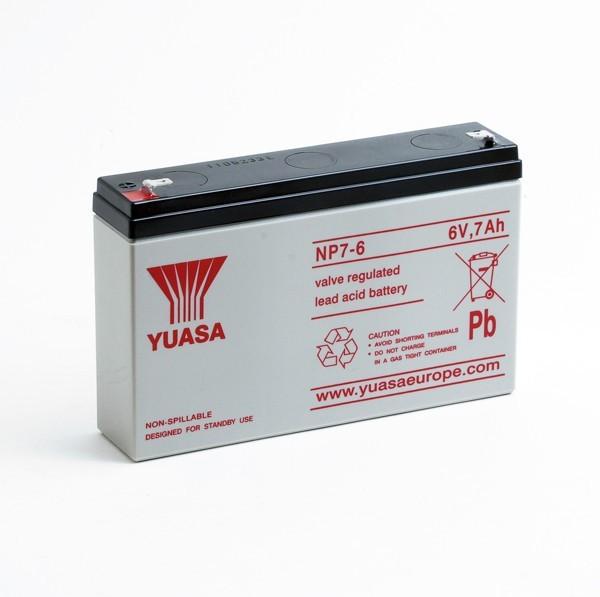 Batterie Yuasa NP7-6 6V 7AH