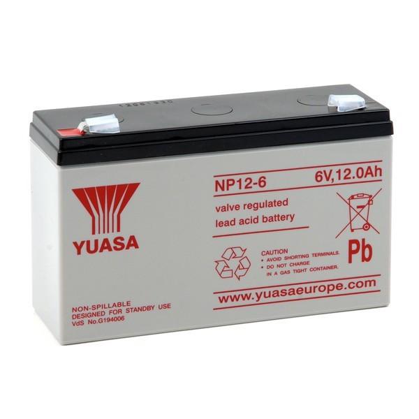 Batterie Yuasa NP12-6 6V 12AH
