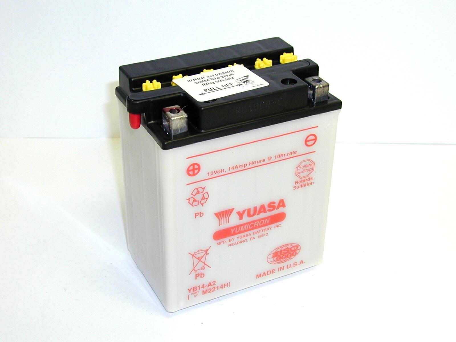 Batterie moto Yuasa YB14-A2...