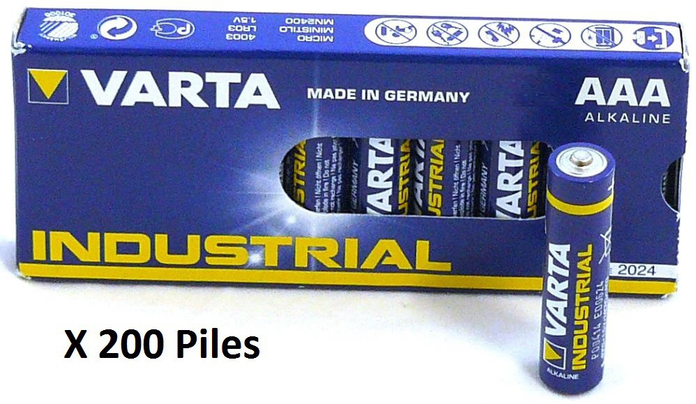 Boite de 200 Piles VARTA...