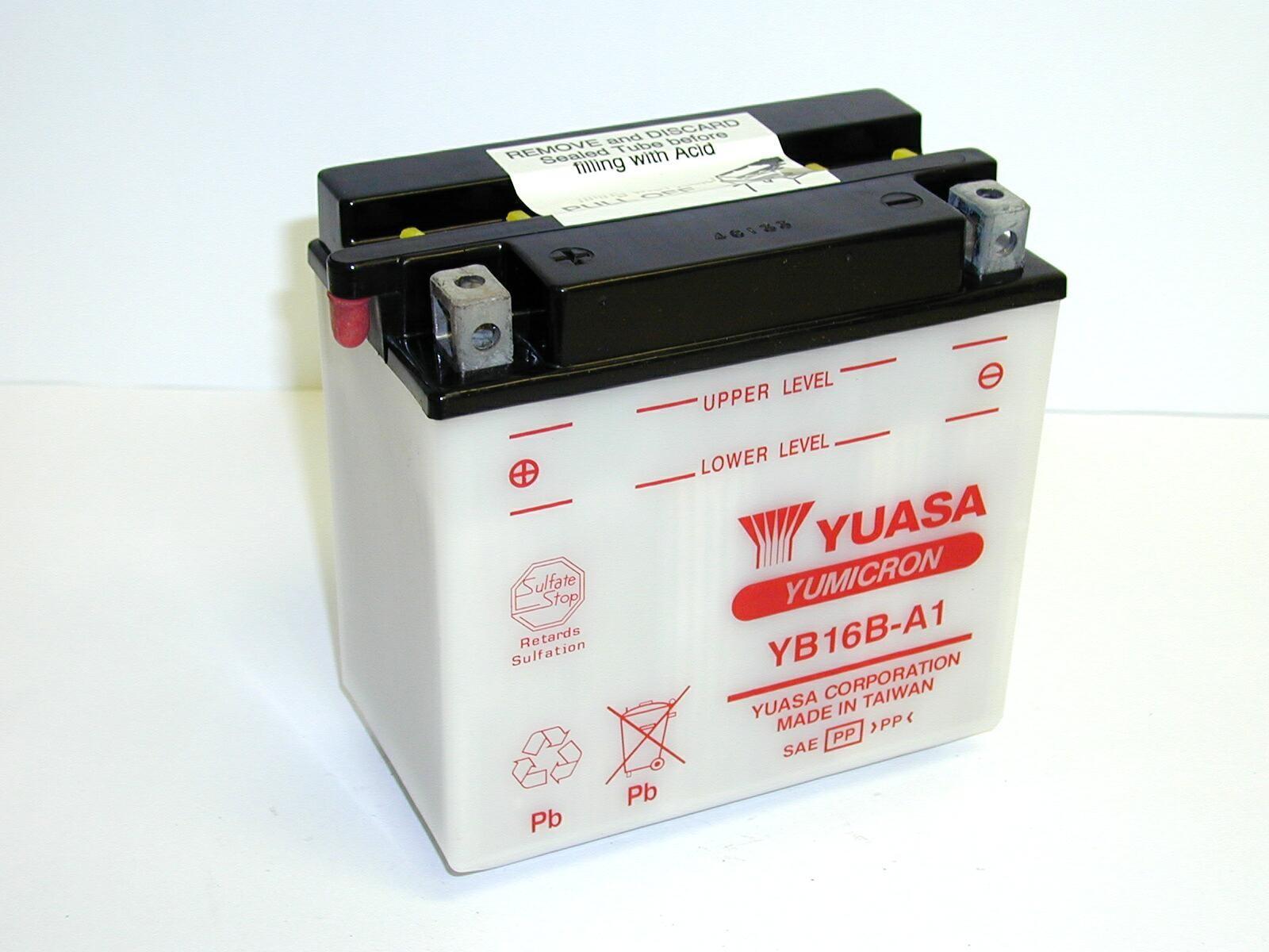 Batterie moto Yuasa YB16B-A...