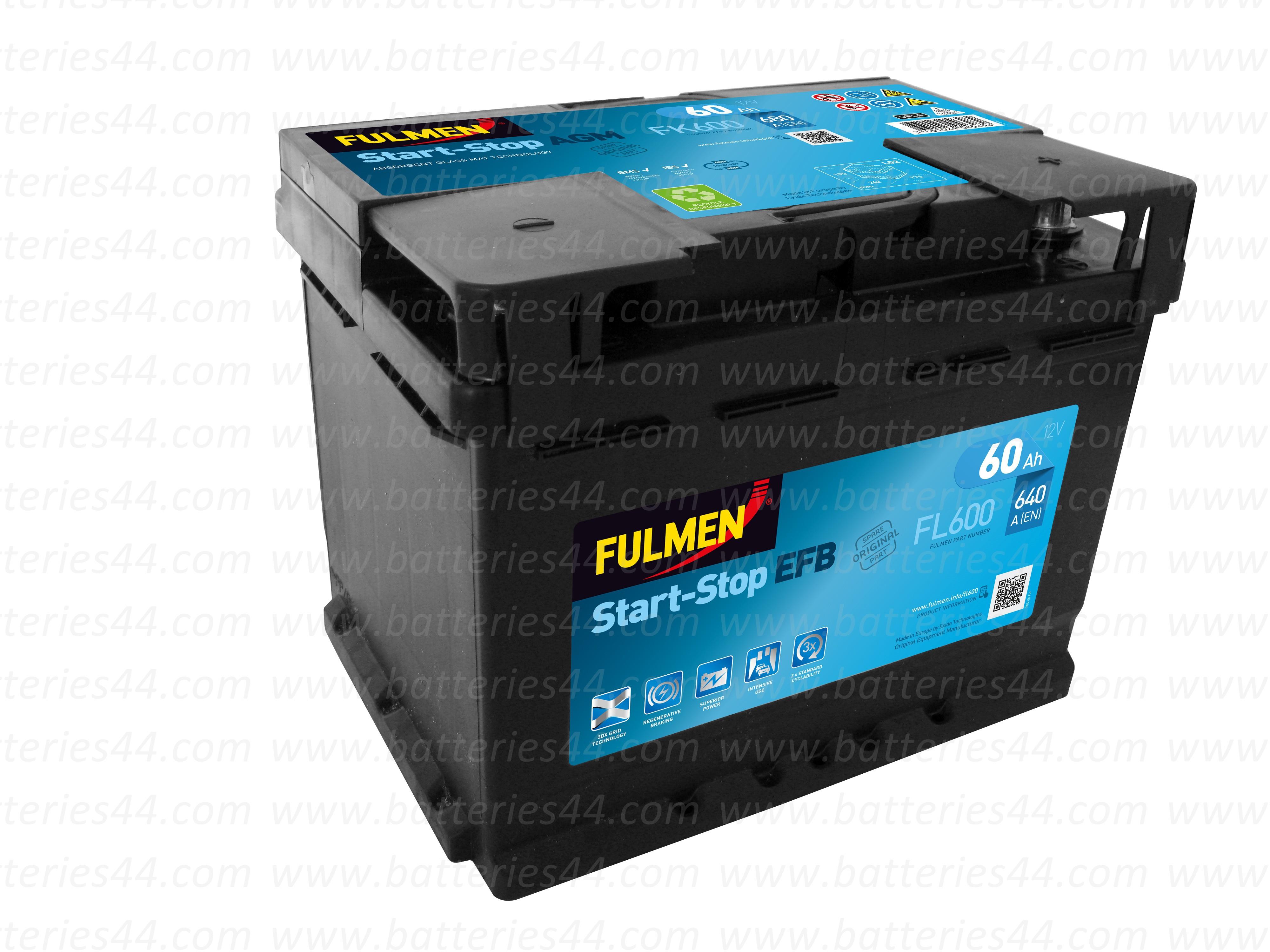 Batterie Fulmen Start & Stop EFB FL605 12V 60AH 520A