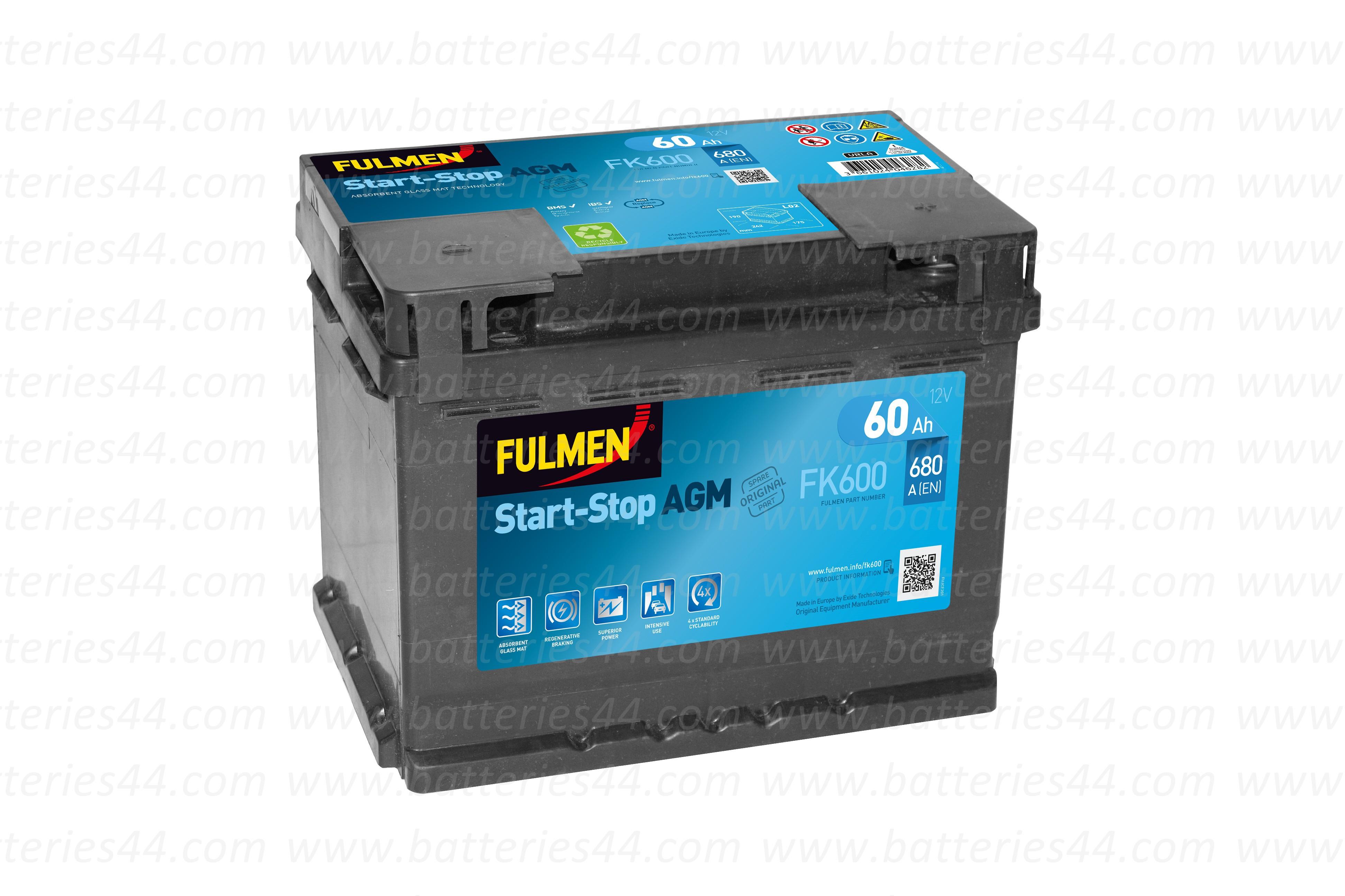 Batterie Fulmen FK600 12V...