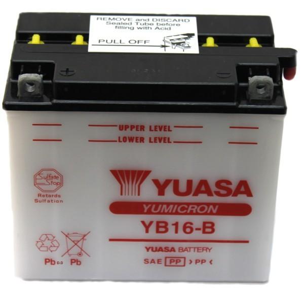 Batterie moto Yuasa YB16-B...