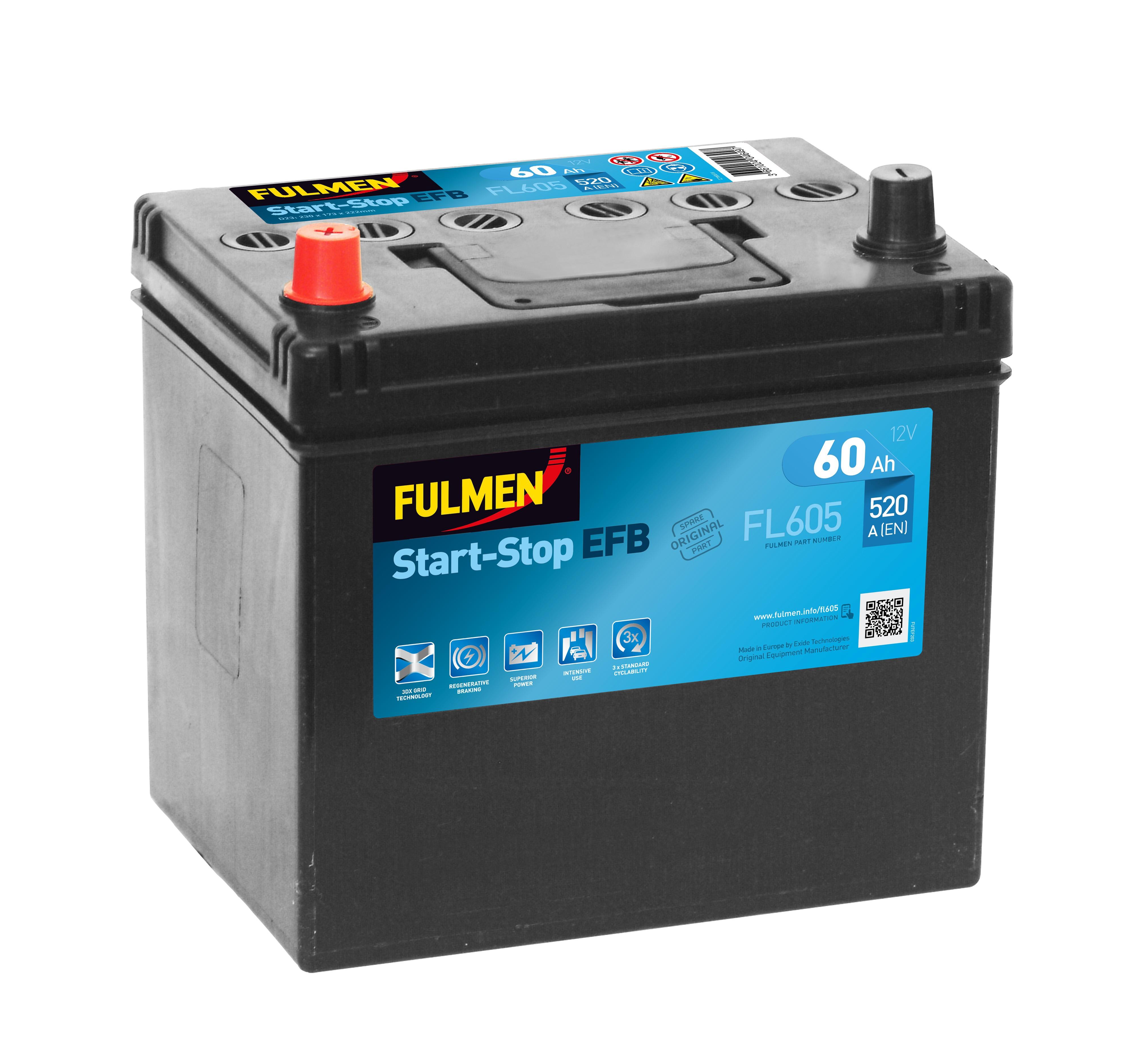 Batterie Fulmen EFB FL605...