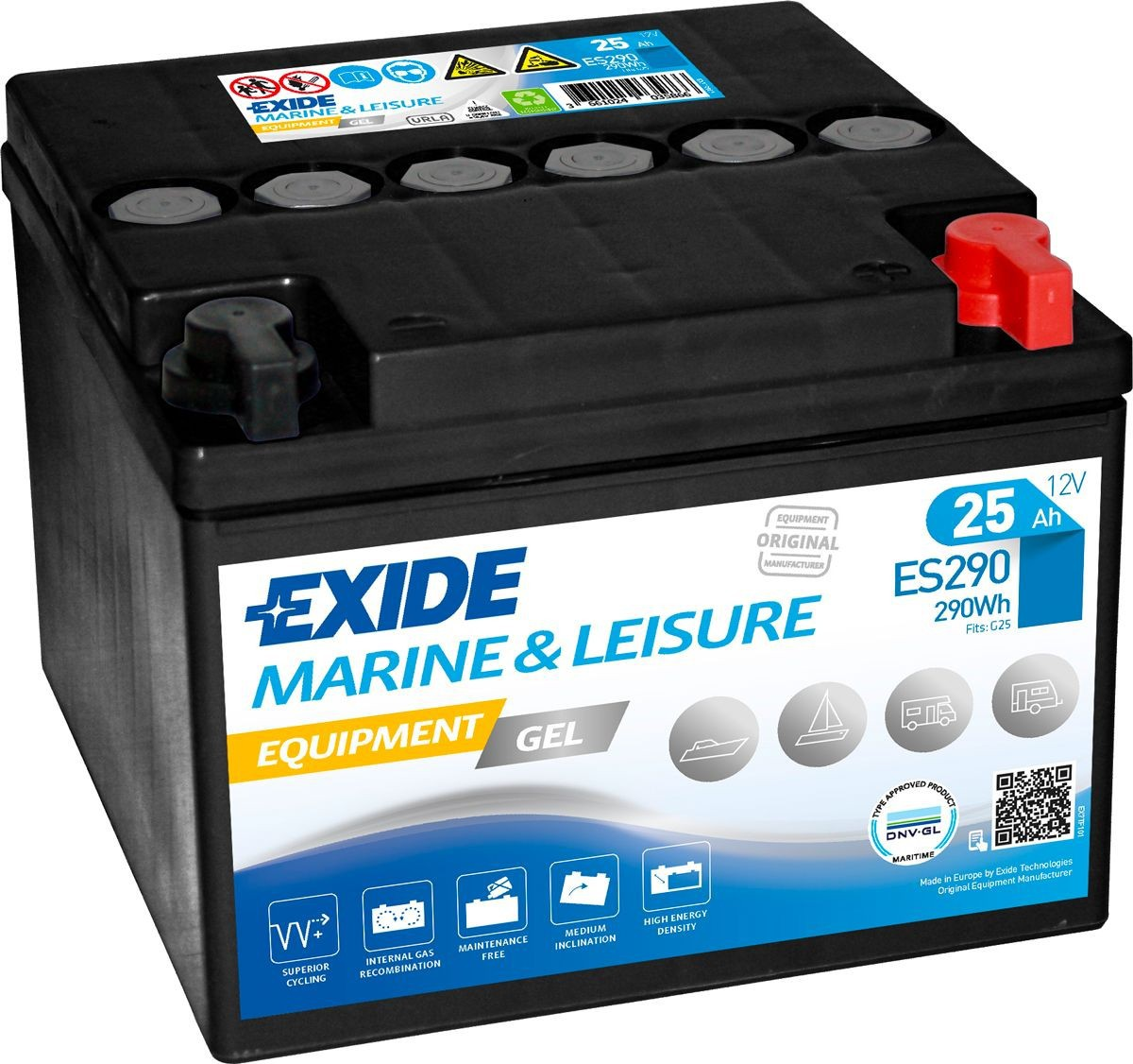 Batterie Exide Gel ES290...