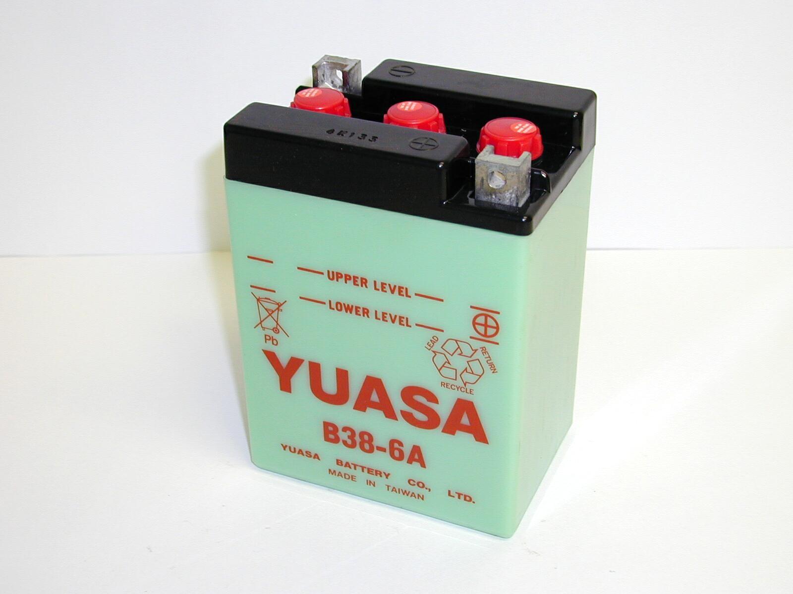 Batterie moto Yuasa B38-6A...